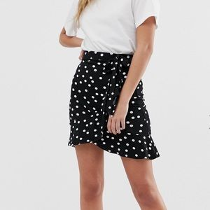 Polka-Dot Wrap Skirt